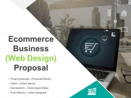 Ecommerce Business Web Design Proposal Powerpoint Presentation Slides