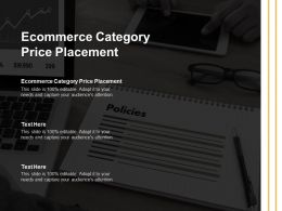 Ecommerce Category Price Placement Ppt Powerpoint Presentation Images Cpb