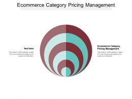 Ecommerce Category Pricing Management Ppt Powerpoint Presentation Gallery Tips Cpb