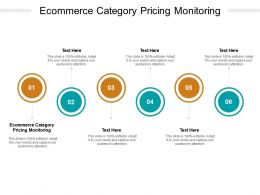 Ecommerce Category Pricing Monitoring Ppt Powerpoint Presentation Cpb