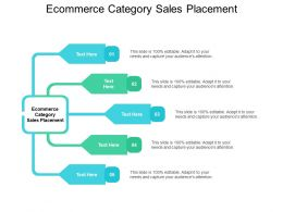 Ecommerce Category Sales Placement Ppt Powerpoint Presentation Gallery Cpb