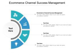 Ecommerce Channel Success Management Ppt Powerpoint Presentation File Cpb