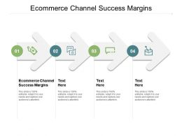 Ecommerce Channel Success Margins Ppt Powerpoint Presentation Icon Design Ideas Cpb