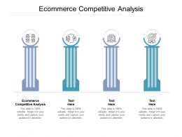 Ecommerce Competitive Analysis Ppt Powerpoint Presentation Show Objects Cpb