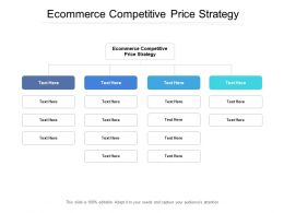 Ecommerce Competitive Price Strategy Ppt Powerpoint Presentation Designs Download Cpb