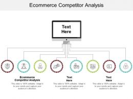 Ecommerce Competitor Analysis Ppt Powerpoint Presentation Summary Slide Cpb