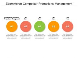 Ecommerce Competitor Promotions Management Ppt Powerpoint Infographics Background Cpb