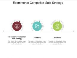 Ecommerce Competitor Sale Strategy Ppt Powerpoint Presentation Icon File Formats Cpb