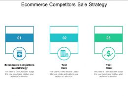 Ecommerce Competitors Sale Strategy Ppt Powerpoint Presentation Gallery Slides Cpb