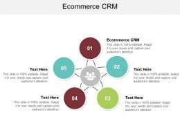Ecommerce CRM Ppt Powerpoint Presentation Inspiration Format Ideas Cpb