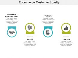 Ecommerce Customer Loyalty Ppt Powerpoint Presentation Ideas Summary Cpb
