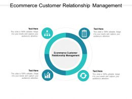 Ecommerce Customer Relationship Management Ppt Powerpoint Presentation Model Examples Cpb