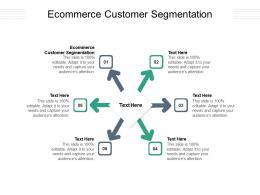 Ecommerce Customer Segmentation Ppt Powerpoint Presentation Inspiration Cpb