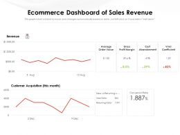 Ecommerce Dashboard Of Sales Revenue