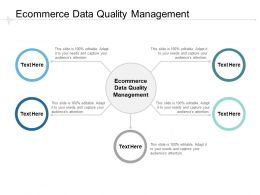 Ecommerce Data Quality Management Ppt Powerpoint Presentation Influencers Cpb