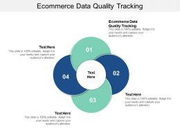 Ecommerce Data Quality Tracking Ppt Powerpoint Presentation Styles Shapes Cpb