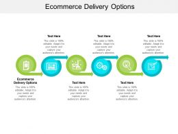 Ecommerce Delivery Options Ppt Powerpoint Presentation Summary Background Image Cpb