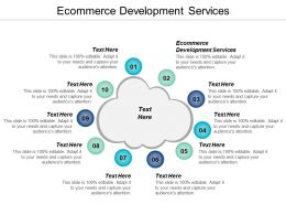 Ecommerce Development Services Ppt Powerpoint Presentation Gallery Structure Cpb