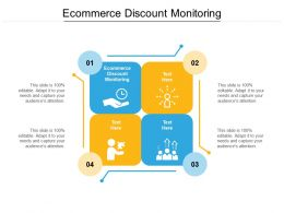 Ecommerce Discount Monitoring Ppt Powerpoint Presentation Layouts Influencers Cpb
