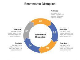 Ecommerce Disruption Ppt Powerpoint Presentation Slides Portrait Cpb