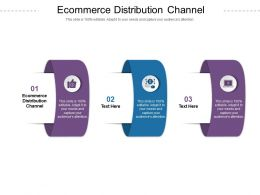 Ecommerce Distribution Channel Ppt Powerpoint Presentation Model Examples Cpb