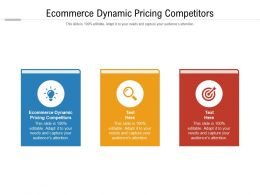 Ecommerce Dynamic Pricing Competitors Ppt Powerpoint Presentation Styles Graphics Cpb