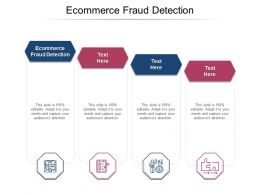 Ecommerce Fraud Detection Ppt Powerpoint Presentation Summary Professional Cpb