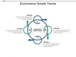 Ecommerce Growth Trends Ppt Powerpoint Presentation Visual Aids Cpb