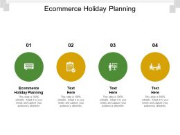 Ecommerce Holiday Planning Ppt Powerpoint Presentation Inspiration Background Image Cpb