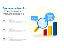 Ecommerce Icon For Online Consumer Products Shopping