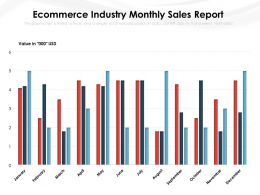Ecommerce Industry Monthly Sales Report
