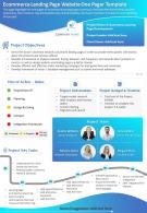 Ecommerce Landing Page Website One Pager Template Presentation Report Infographic PPT PDF Document