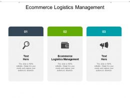 Ecommerce Logistics Management Ppt Powerpoint Presentation Portfolio Display Cpb