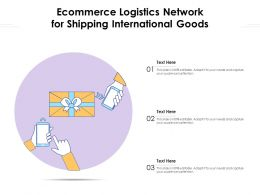 Ecommerce Logistics Network For Shipping International Goods