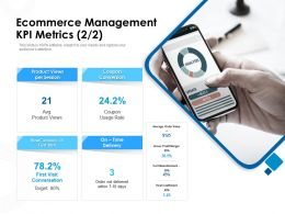 Ecommerce Management KPI Metrics First Visit Ppt Powerpoint Presentation Infographic Template Slideshow