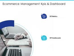 Ecommerce Management KPIS And Dashboard M2030 Ppt Powerpoint Presentation Icon Pictures