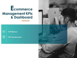 Ecommerce Management KPIs And Dashboard Ppt Powerpoint Presentation Inspiration