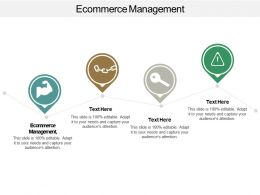 Ecommerce Management Ppt Powerpoint Presentation Gallery Design Inspiration Cpb