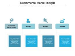 Ecommerce Market Insight Ppt Powerpoint Presentation File Vector Cpb