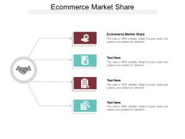 Ecommerce Market Share Ppt Powerpoint Presentation Icon Design Ideas Cpb