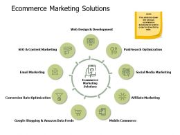 Ecommerce Marketing Solutions Development Ppt Powerpoint Presentation Slides Sample