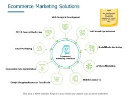 Ecommerce Marketing Solutions Paid Search Optimization Ppt Powerpoint Presentation Ideas