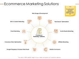 Ecommerce Marketing Solutions Ppt Powerpoint Presentation Icon