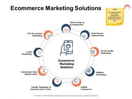 Ecommerce Marketing Solutions Ppt Powerpoint Presentation Image