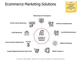 Ecommerce Marketing Solutions Ppt Powerpoint Presentation Infographic Template Outline