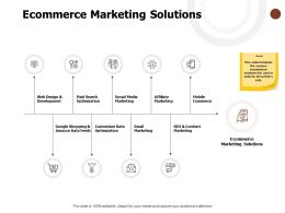 Ecommerce Marketing Solutions Social Media Marketing Web Design Ppt Powerpoint Presentation Layouts Slides