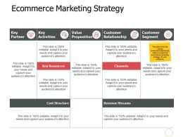 Ecommerce Marketing Strategy A528 Ppt Powerpoint Presentation Infographics File Formats