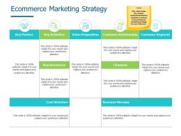 Ecommerce Marketing Strategy Cost Structure Ppt Powerpoint Presentation Summary Demonstration