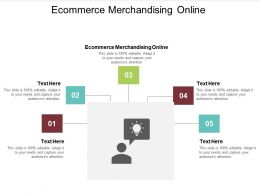 Ecommerce Merchandising Online Ppt Powerpoint Presentation Inspiration Files Cpb