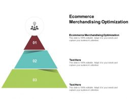 Ecommerce Merchandising Optimization Ppt Powerpoint Presentation Styles Objects Cpb